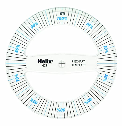 Helix Pie Chart Template H78010: Amazon.co.uk: Office Products