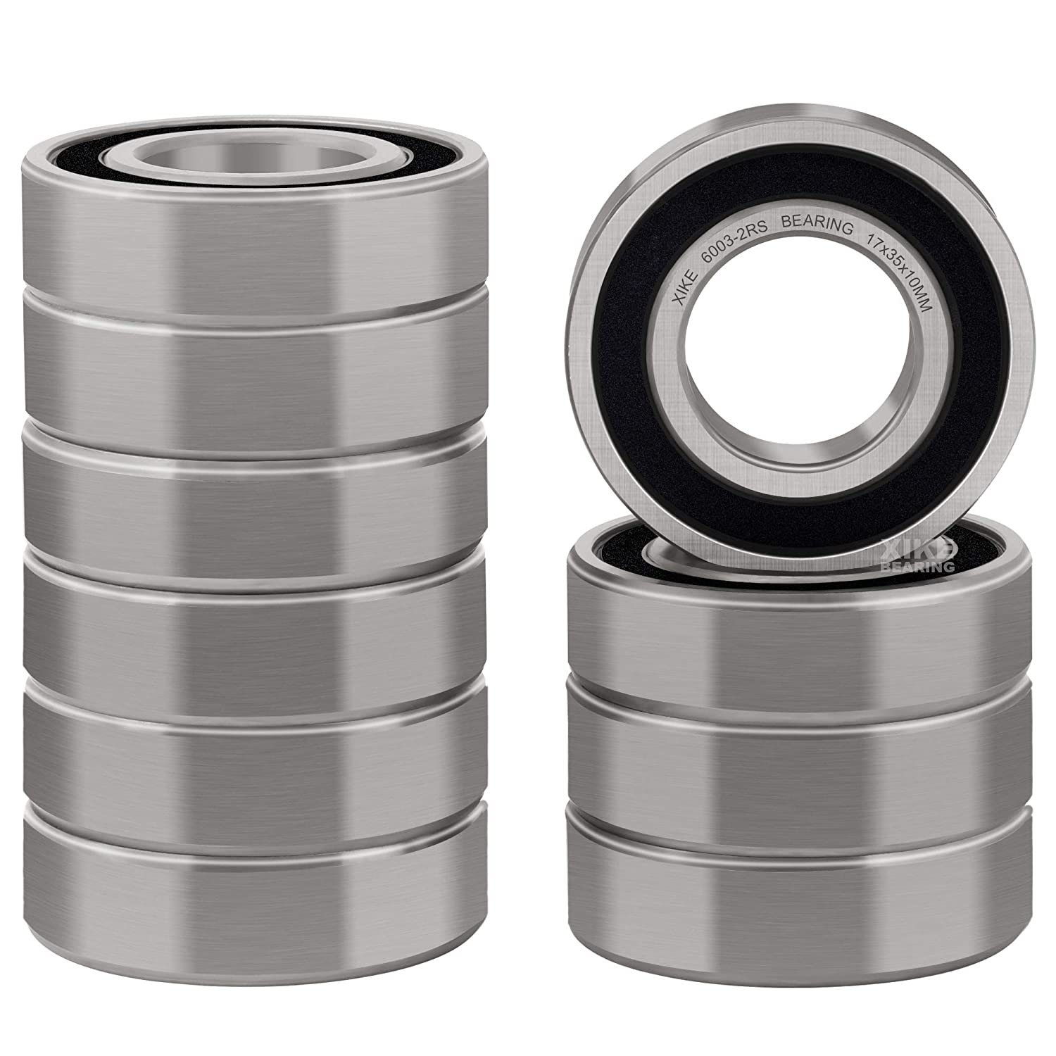 Pre-Lubricated and Stable Performance and Cost Effective TIMKEN 6203-2RS 5 Pcs Double Rubber Seal Bearings 17x40x12mm Deep Groove Ball Bearings.