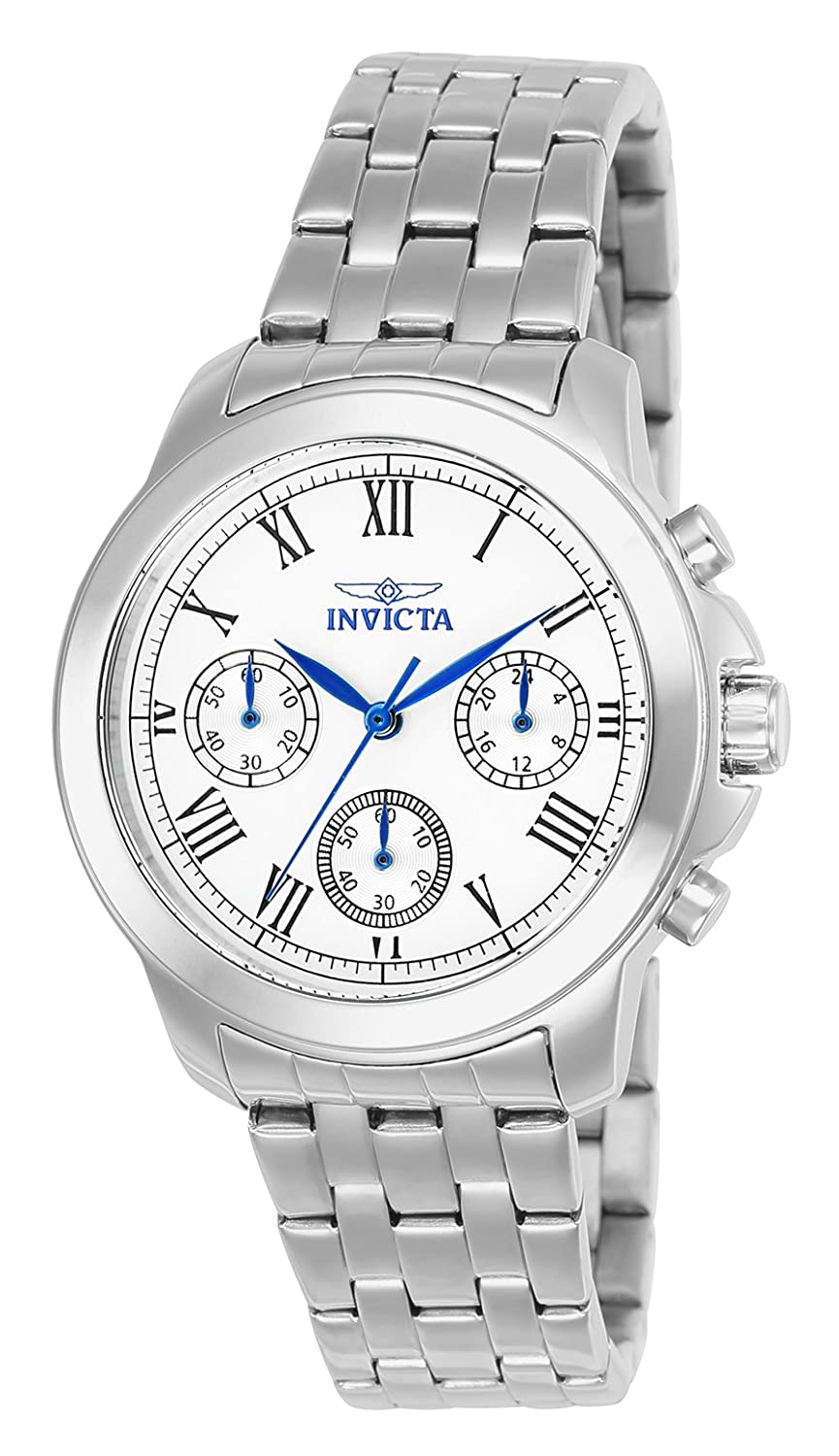 Invicta Women s 21653 Specialty Analog Display Swiss Quartz Silver-Tone Watch