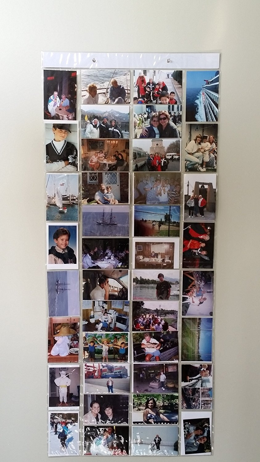 Hanging Photo Gallery, Each Picture Is In Its Own Pocket To Protect The Picture, Easy To Change Holds 80 Pictures In 40 Display Pockets