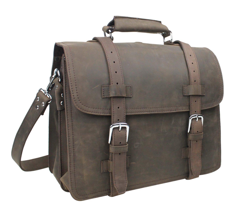 Vagabond Traveler 16'' Heavy Duty Sport Briefcase & Book Backpack. Heavy 8.5LB L69. Coffee Brown