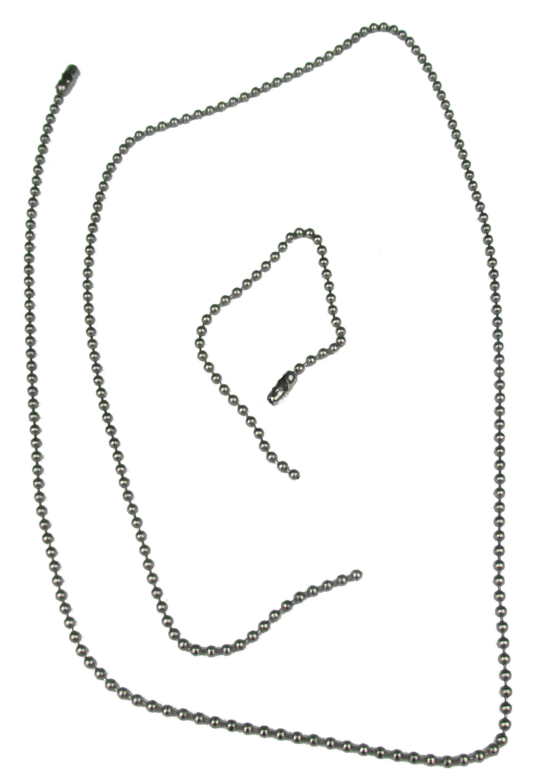 Dog Tag Chain Set - Silver - Quantity 1,000 by BC (Image #1)