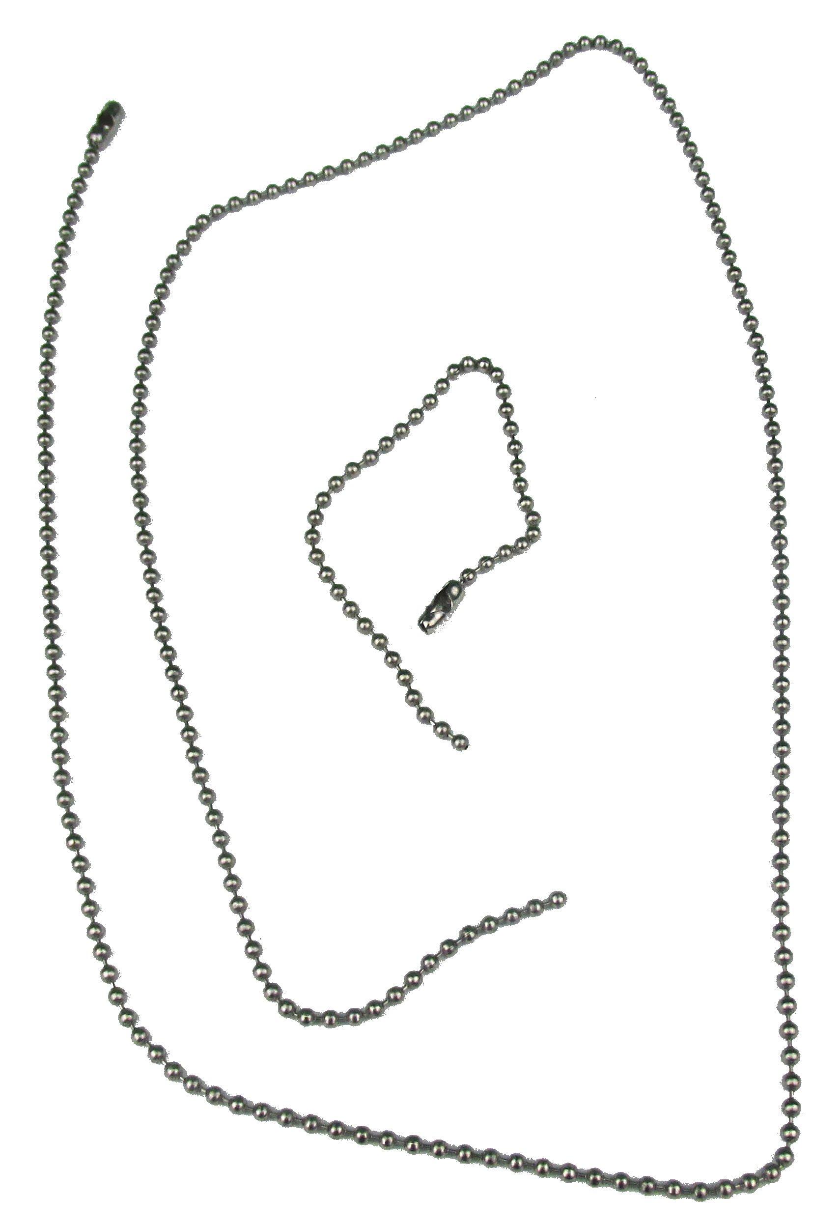 Dog Tag Chain Set - Silver - Quantity 1,000