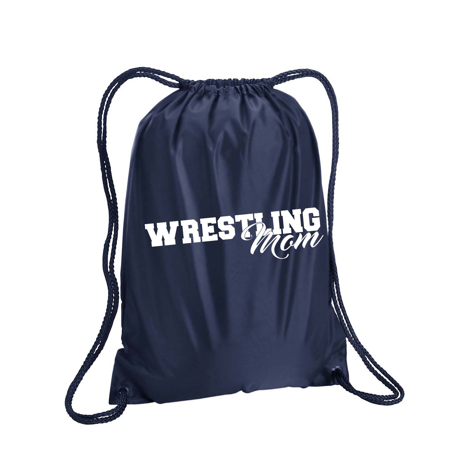 Wrestling Mom Cinch Pack in Navy - Small 14x18 by ZeroGravitee