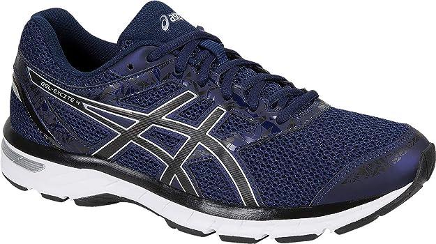 ASICS Gel-Excite 4 Men's Running Shoe, Indigo Blue/Black/Silver, 8 M US