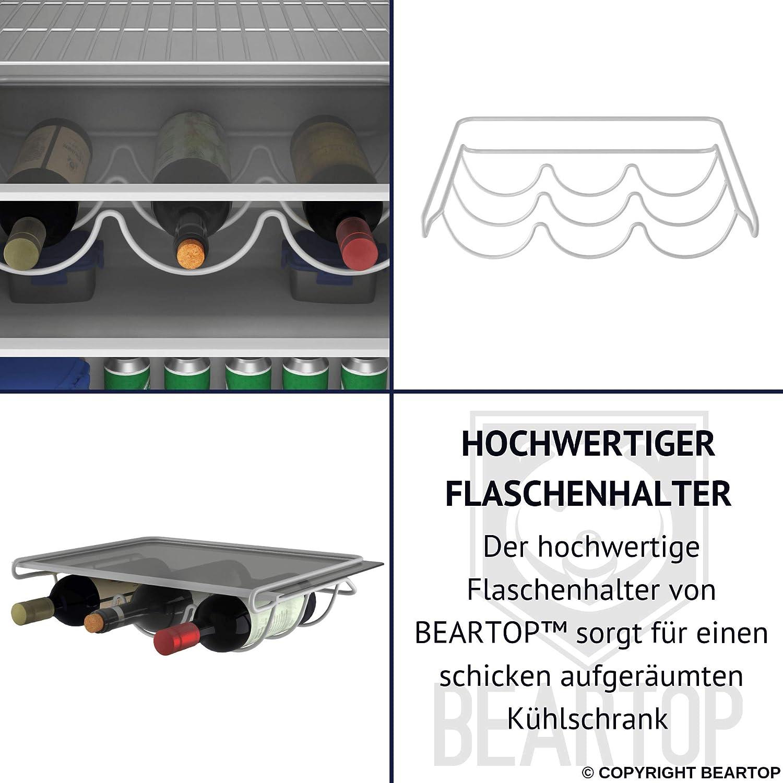 3 Flaschen jusqu/à 3 bouteilles M/étal Blanc. en m/étal laqu/é blanc BearTop Porte-bouteille pour par exemple r/éfrig/érateur inoxydable stable