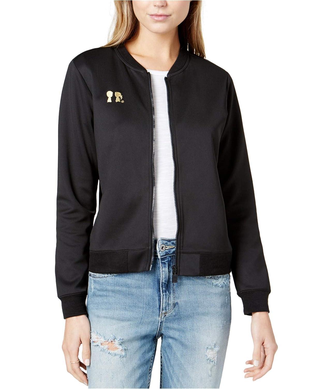 eb4baae58 Boy Meets Girl Womens Embroidered-Logo Bomber Jacket at Amazon ...