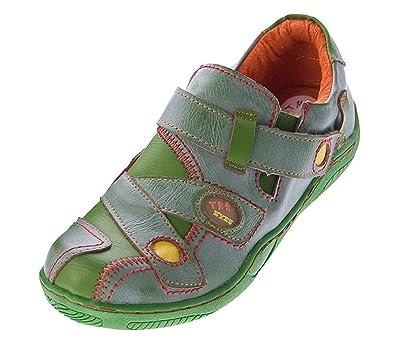TMA Damen Comfort Leder Schuhe 1339 Slipper Turnschuhe Sneakers Halbschuhe  Grün Gr. 36  Amazon.de  Schuhe   Handtaschen 714b1b5c88