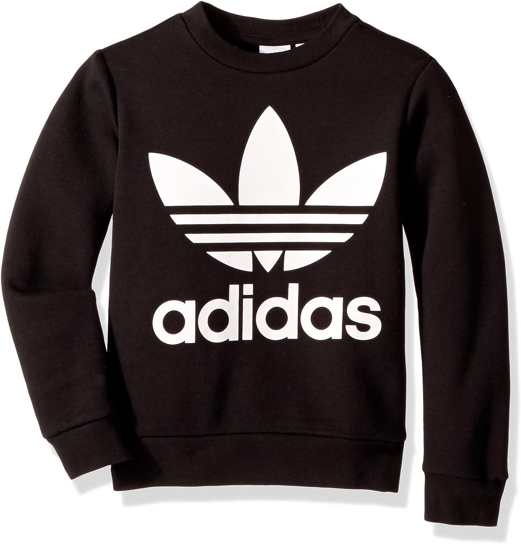 adidas Originals Jungen Fleece Crew Trefoil Crew: