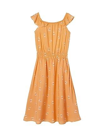 c63bc0978047a Vertbaudet Robe Longue Fille imprimée Orange 3 A  Amazon.fr ...