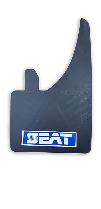 Guardabarros con logo azul para Seat Leon, Ibiza, Toledo, Altea, Cordoba, Exeo Mud Flaps rojo: Amazon.es: Coche y moto