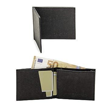 Schnäppchen für Mode mehr Fotos im Angebot FRITZVOLD MINIMAL Wallet, RFID-Schutz & erweitertes Münzfach, kleines,  dünnes Portemonnaie für Herren, extrem Flacher Geldbeutel, Slim Portmonee,  ...