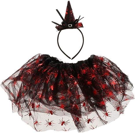 KODORIA Falda de Halloween Tutu Vestido Ballet Tutu Falda con ...