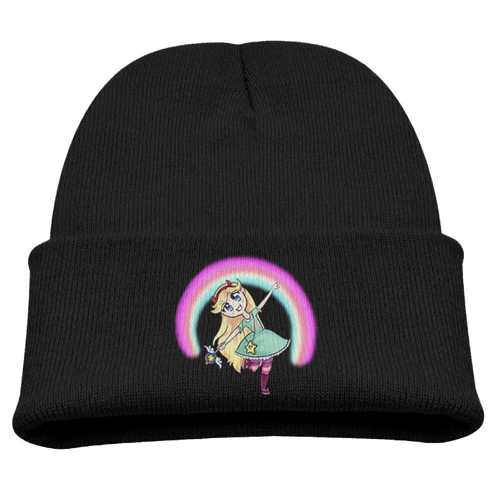 Star VS The Forces Of Evil Cartoon Warm Winter Hat Knit Beanie Skull Cap Cuff Beanie Hat Winter Hats Boys