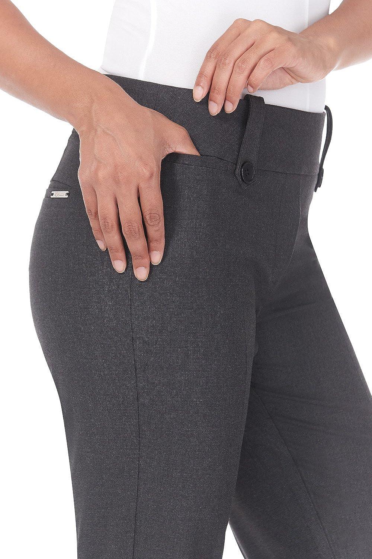 Rekucci Pantalones Inteligentes del Escritorio a Cena de Mujer Corte de Bota con Control de la Barriga.