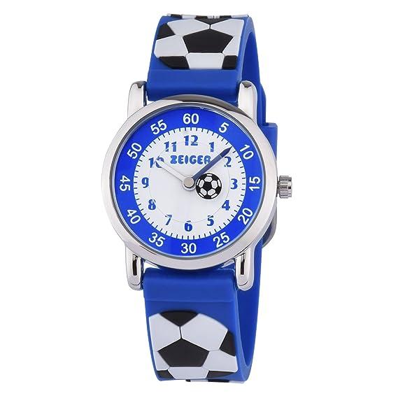 kzkr Niños Reloj Fútbol Niño Reloj de pulsera Niños Reloj De Pulsera Azul Reloj Deportivo reloj de aprendizaje K091: Amazon.es: Relojes