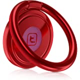 Phone Ring Holder Magnetic, TORRAS 360° Rotation Metal Cell Phone Finger Ring Grip stand/ Kickstand Work on Magnetic Car Mount Holder for iPhone 7/ 7Plus 6/ 6s Plus, Galaxy, LG - Red