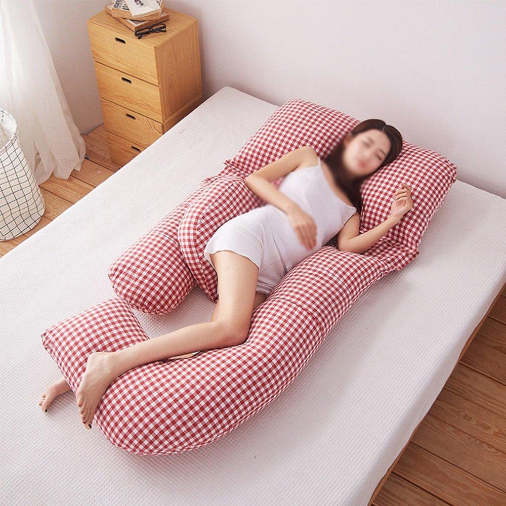 Waist side sleeper pillow / pregnant women pillows / lateral pillow / u-pillow / multi-function abdominal pillow ( Color : A ) by Pregnant women pillow