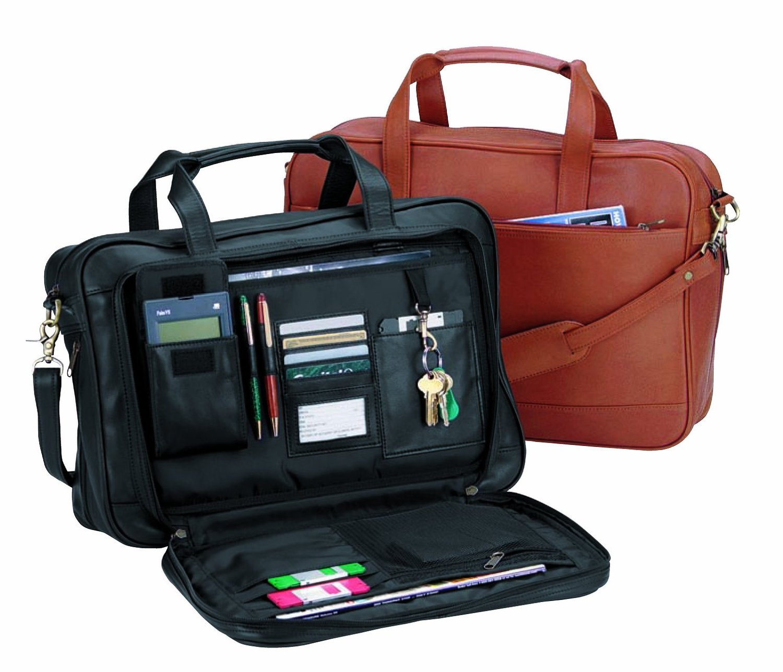 Royce Leather Expandable Briefcase (Black)