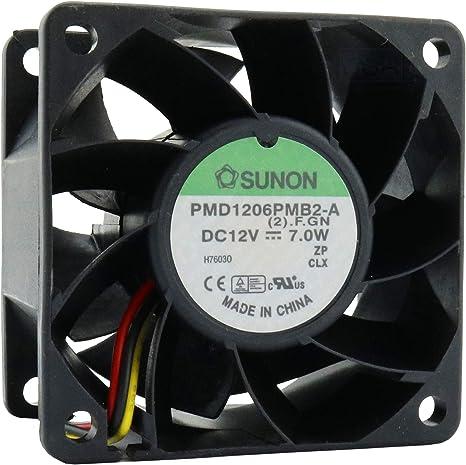 Ventola ventolina raffreddamento per elementi elettronici CPU 60x60x20mm 12V