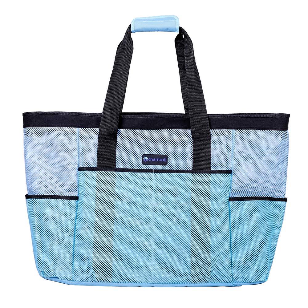 OOSAKU Bolso de mano grande Bolsos de viaje plegables de las compras de la mujer Juguete de arena Bolsos de almacenamiento de ultramarinos xl, Azul