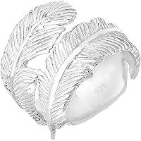 Elli Women's 925 Sterling Silver Matte Knot Wave Geo Ring