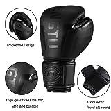 ZTTY Boxing Gloves PU Leather Kickboxing Muay