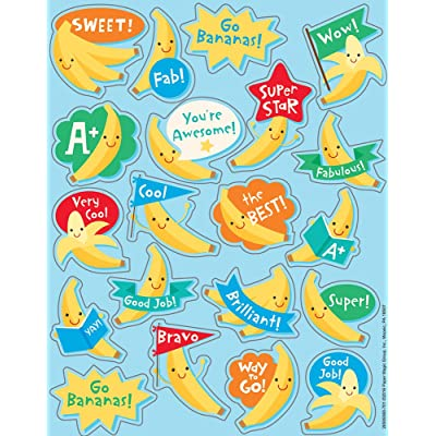 Eureka Banana Stickers - Scented: Office Products