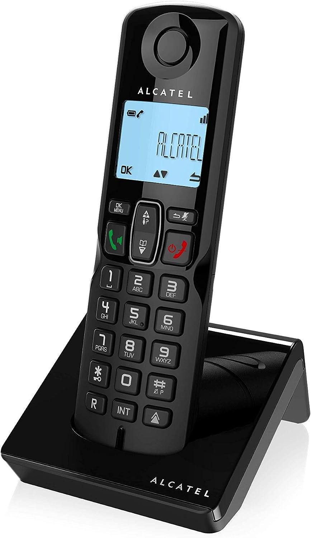Alcatel S250, Teléfono DECT Inalámbrico (Altavoz, 50 Entradas, Identificador de Llamadas), Negro: Amazon.es: Electrónica