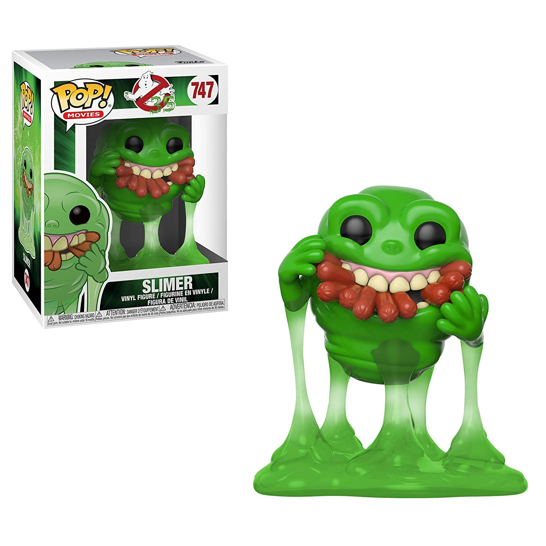 Funko- Pop Vinilo: Ghostbusters: Slimer w/Hot Dogs Figura Coleccionable, Multicolor (39333)