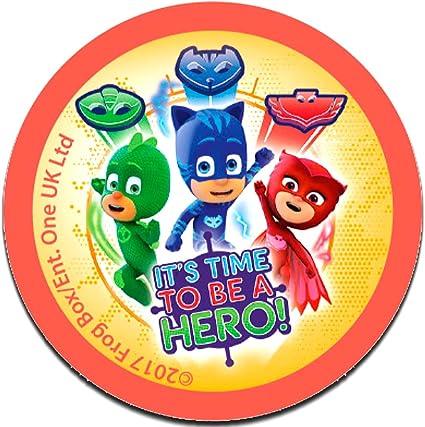 PJ Masks Héroes en pijamas Its time to be a hero 2 Disney - Parches termoadhesivos bordados aplique para ropa, tamaño: 6,2 x 6,2 cm