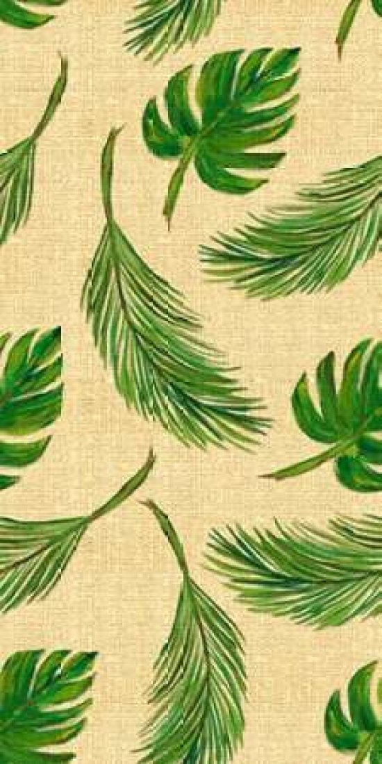 Palms On Linen Pattern Poster Print by Julie DeRice (24 x 48)