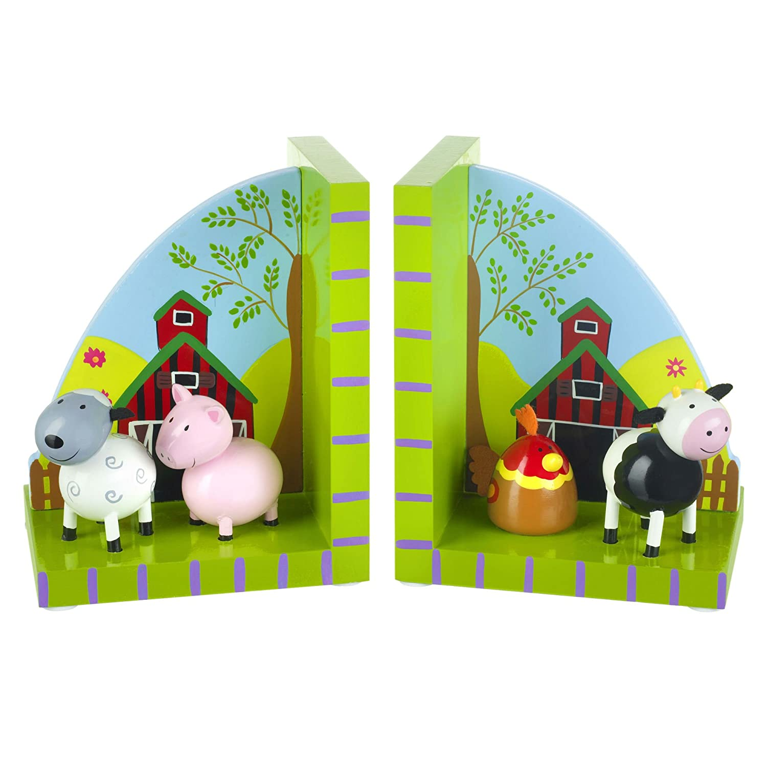 Orange Tree Toys : Farm Yard Wooden Bookends RY92K1197