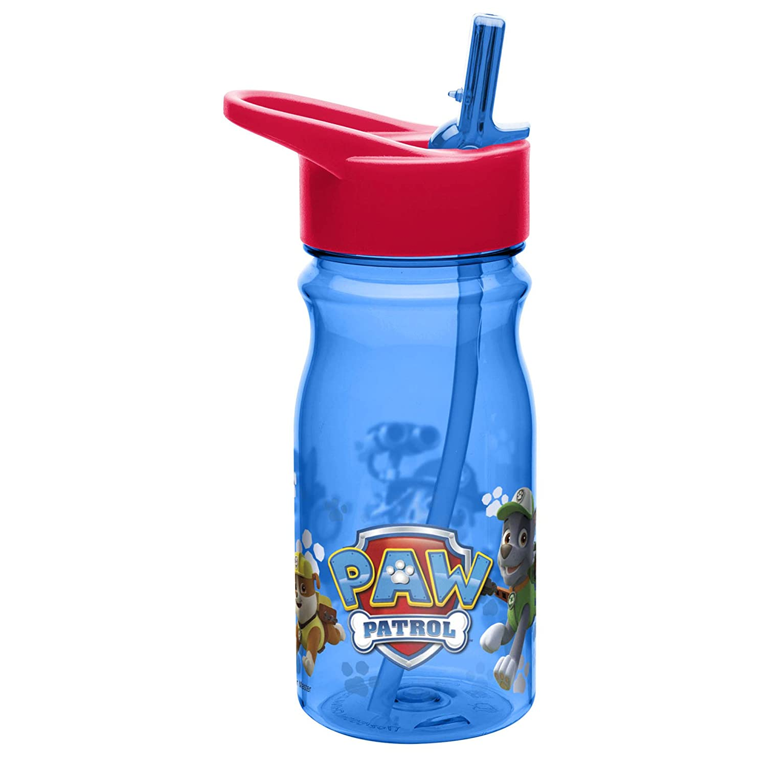Zak Designs Paw Patrol 16 Oz. Water Bottle With Straw, Chase, Rubble, Rocky, Marshall, Zuma by Nickelodeon