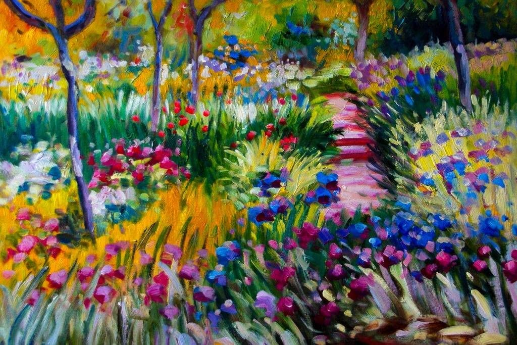 Claude Monet The Iris Garden at Giverny Cool Wall Decor Art Print Poster 36x24
