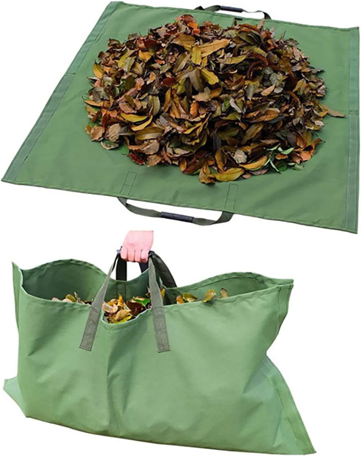 UNIE Yard Waste Bag for Collecting Leaves, Garden Leaf Collector Bag with Handles, Reusable Collapsible Leaf Container for Clean up