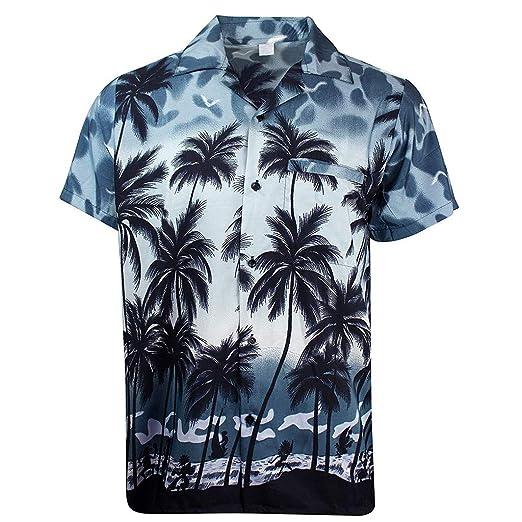 0b5cbfec5 Sinfu Men's Summer Fashion Hawaiian Shirt Coconut Tree Print Short-Sleeved  Button Pocket Shirt Top