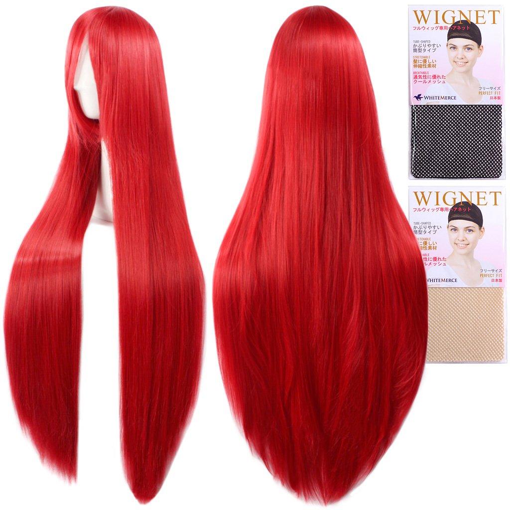 (Two wig + Stand + hair net) ROT ROT hair CaseEden original 4-piece set of dark [cosplay wig 100cm heat-resistant high-quality Genuine] super long straight crimson (japan import)