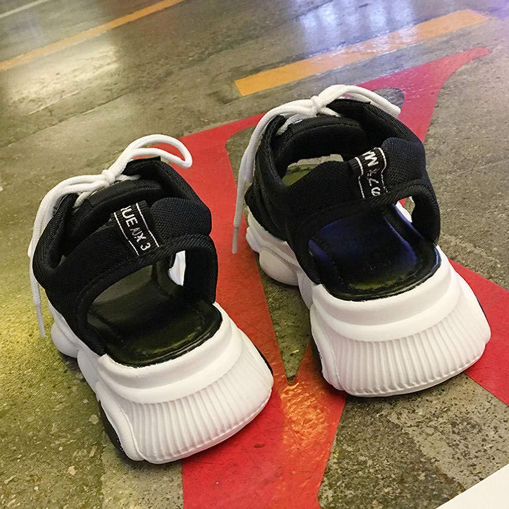 2019 Summer Women Girls Summer Sport Sandals Wedges Platform Peep Toe Casual Sport Shoes