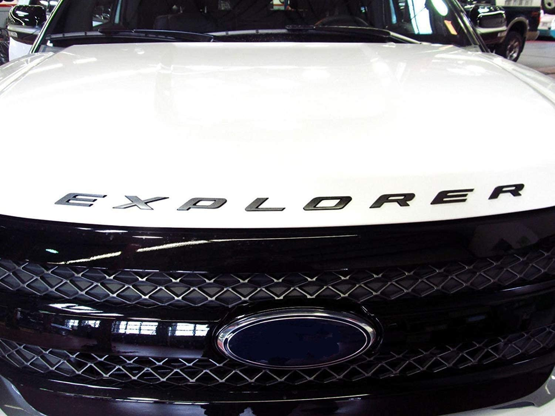 L/&U 3D-Buchstaben ABS Front Hood Emblem Explorer Sport Hood Letters Aufkleber Fit f/ür Ford Explorer 2011-2020,Matte Black