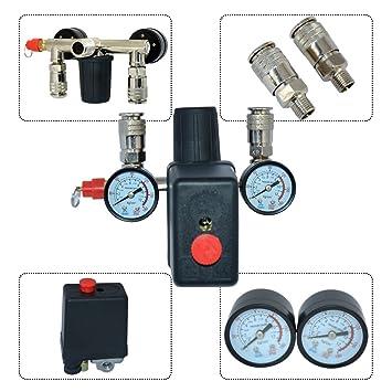 230 V Interruptor de botón interruptor para compresor de aire Set (Alemania) de almacenamiento: Amazon.es: Coche y moto