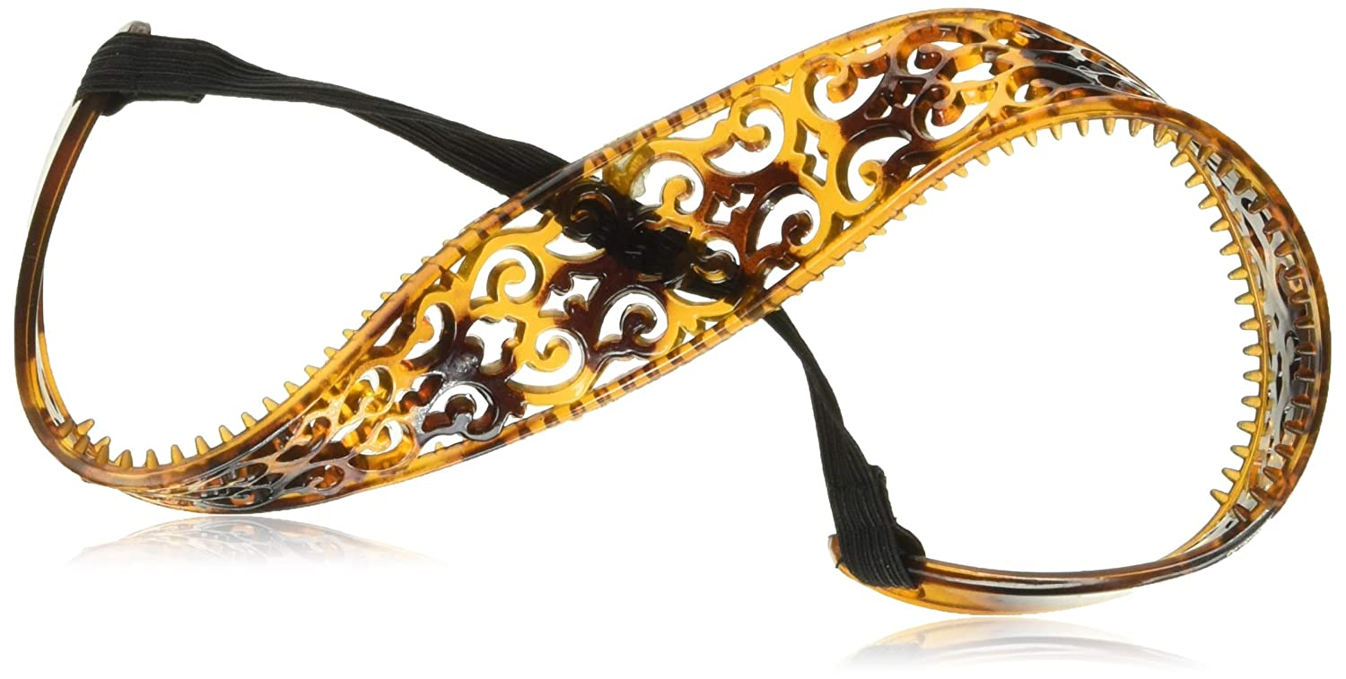 Goody Ouchless HeadBands Gentle Fit Hair Band Head Metallic Metal Black Gold