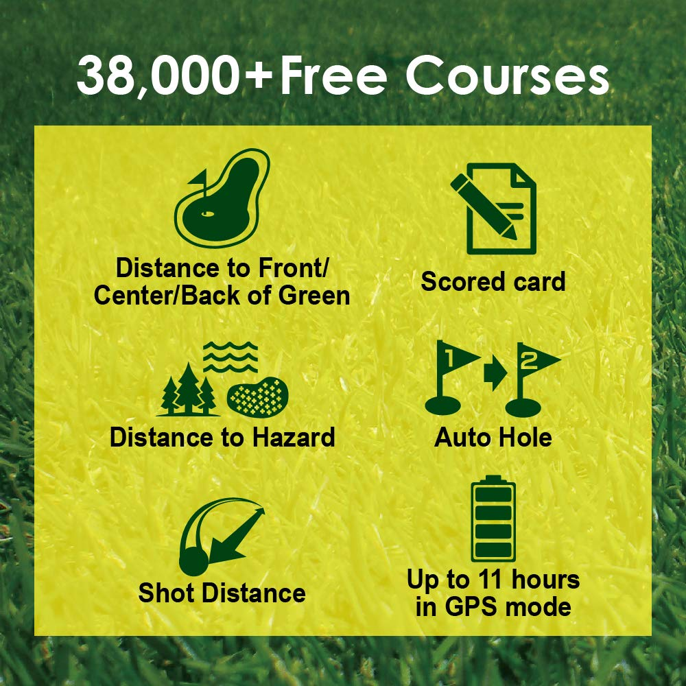 Canmore Tw 353 Gps Golf Watch Key Course Data And Scorecard On Your Wrist Minimalist User Friendly 38 000 Free Courses Worldwide And Growing