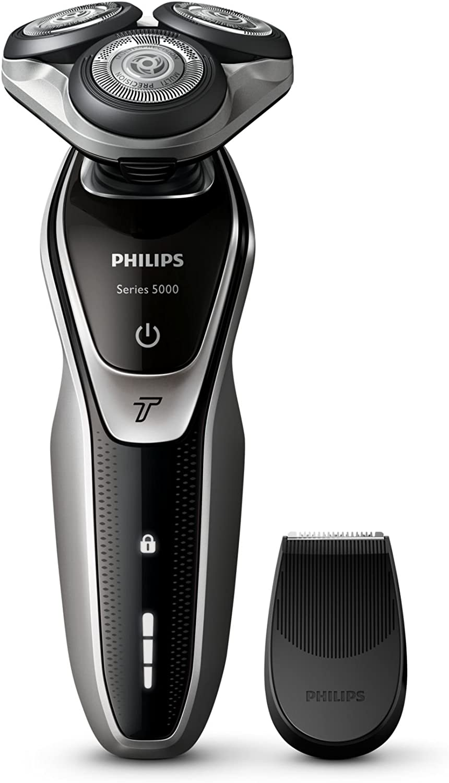 Philips SHAVER Series 5000 - Afeitadora (Batería, Ión de litio, Rotación, Negro, Plata, LED, Ergonomic): Amazon.es: Salud y cuidado personal