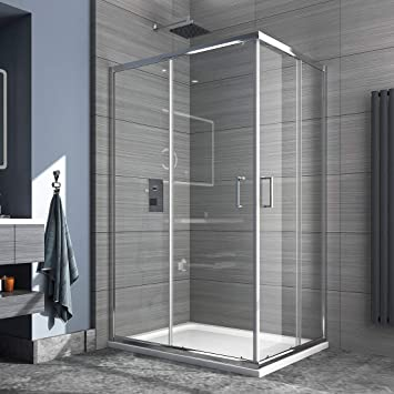 Cabina de ducha Safeni para esquina, mampara de ducha sin plato de ...