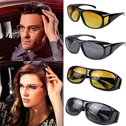 a22e40ba2a Rich N Royal Men s And Women s Night Vision Driving Sunglasses Goggles   Amazon.in  Clothing   Accessories