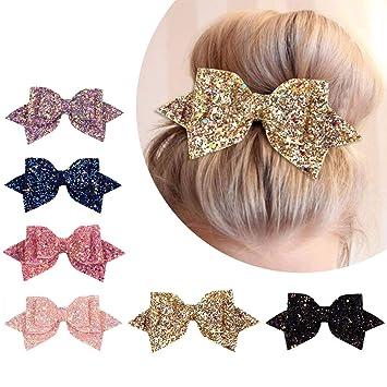 UK Fashion Big Hair Bow Girls Solid Ribbon Hair Bows With Clip Boutique HairClip