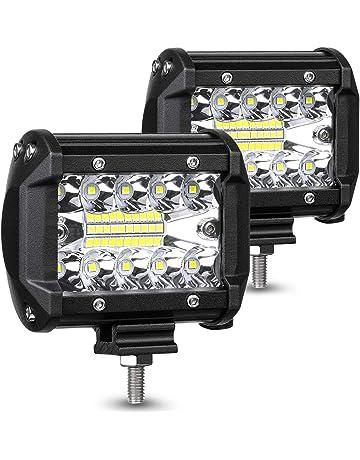 ba1f2b29aaeb AMBOTHER LED Pods Light Bar 4 Inch 120w 12800lm Driving Fog Off Road Lights  Triple Row
