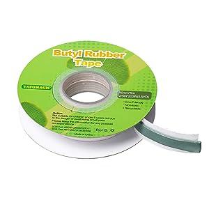 TafoMag!c Butyl Rubber Tape, [0.4IN x 16.4ft] Roof Patching, Repairs for RV, Boat Sealing Tape, Gaps and Windows Repair, Waterproof Sealant Tape