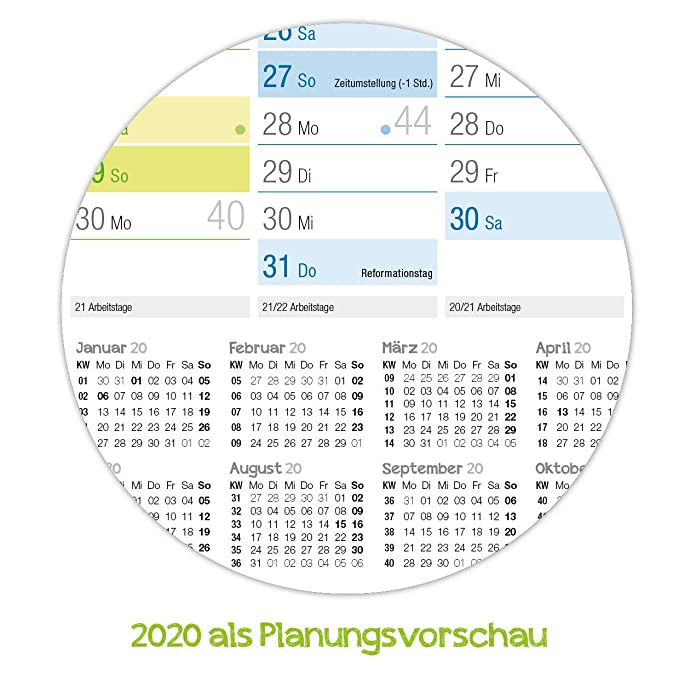 Pared Calendario 2019 DIN A2 (59 x 42 cm), plegado, pared ...